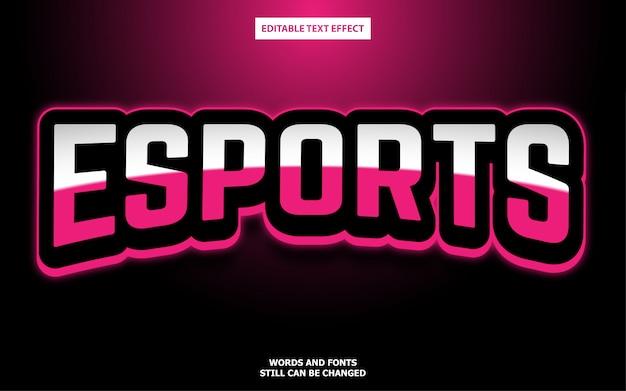 Efecto de estilo de texto del logotipo de esport