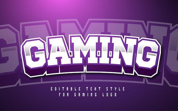 Efecto de estilo de texto de logotipo de juegos