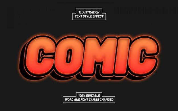Efecto de estilo de texto de luz cómica