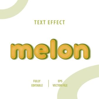 Efecto de estilo de texto de melón