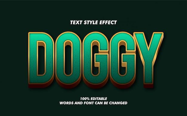 Efecto de estilo de texto en negrita 3d verde y dorado moderno