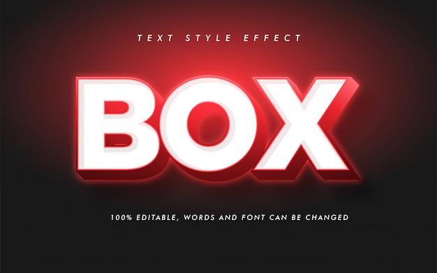 Efecto de estilo de texto en negrita de caja moderna