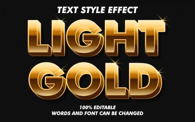 Efecto de estilo de texto en negrita dorada