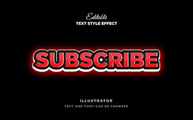 Efecto de estilo de texto en negrita fuerte rojo