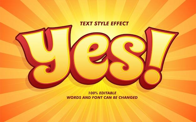 Efecto de estilo de texto en negrita de historieta cómica