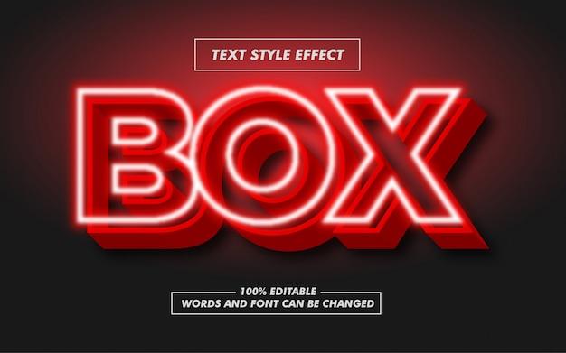 Efecto de estilo de texto en negrita con letrero de cuadro rojo