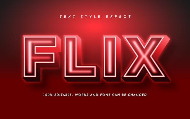 Efecto de estilo de texto en negrita rojo para título de película y póster