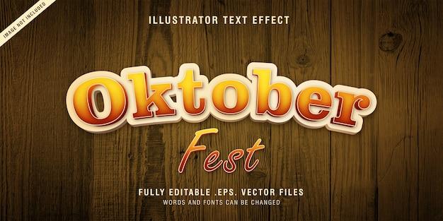 Efecto de estilo de texto oktober fest, editable