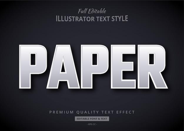 Efecto de estilo de texto de papel
