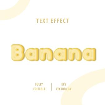 Efecto de estilo de texto de plátano