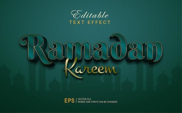 Efecto de estilo de texto de ramadan kareem