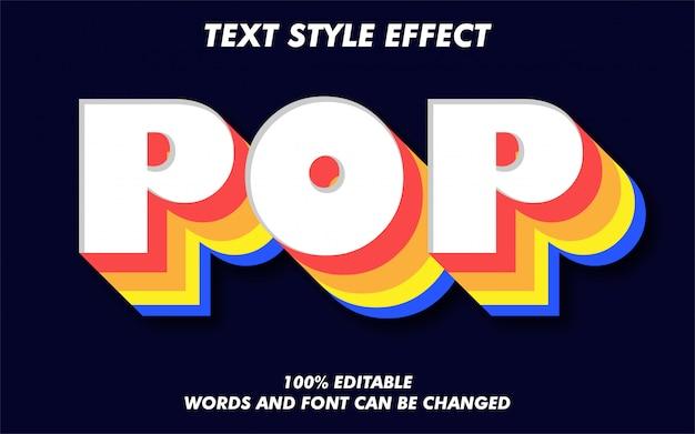 Efecto de estilo de texto retro y colorido vintage