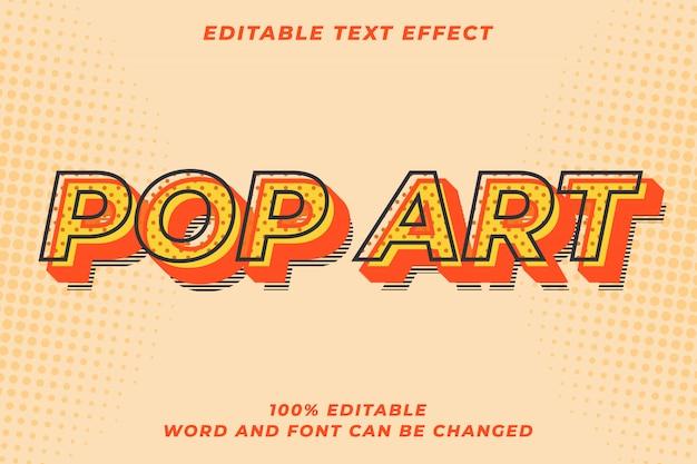Efecto de estilo de texto retro pop art moderno
