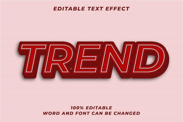 Efecto de estilo de texto rojo negrita 3d