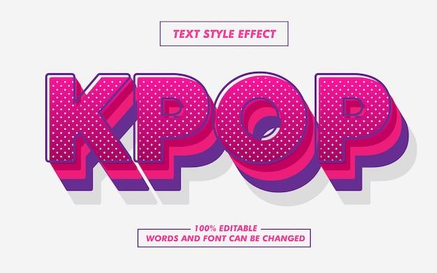 Efecto de estilo de texto rosa pop art