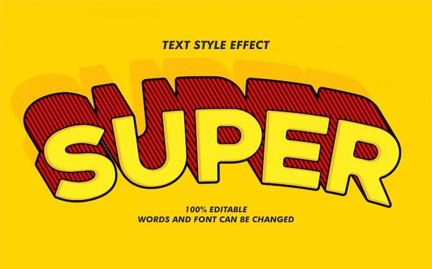 Efecto de estilo de texto super negrita