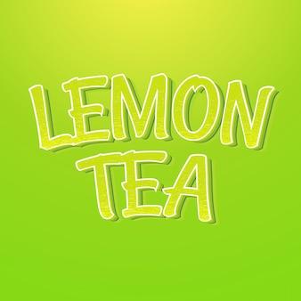 Efecto de estilo de texto de té de limón