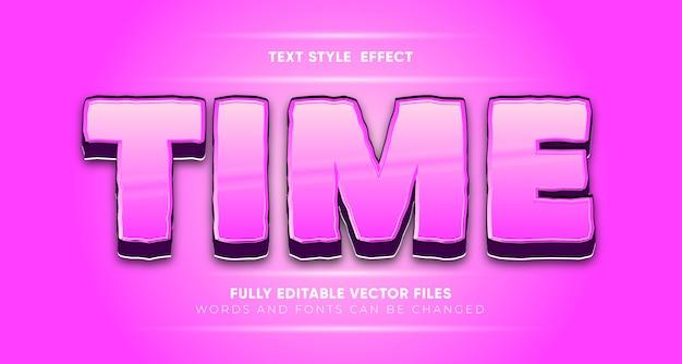 Efecto de estilo de texto de tiempo editable