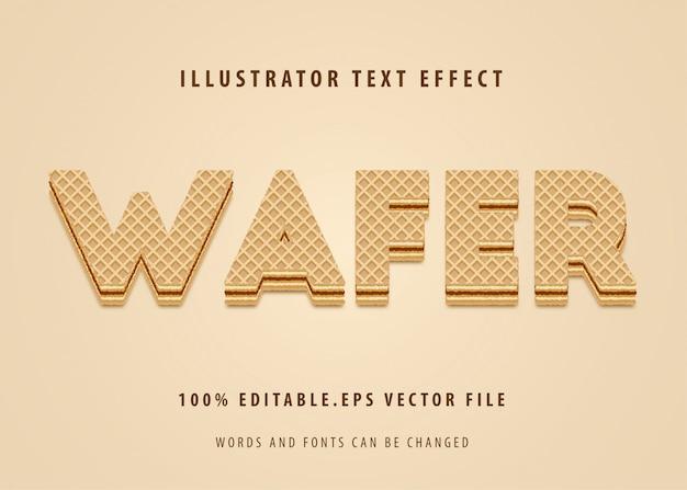 Efecto de estilo de texto waffer