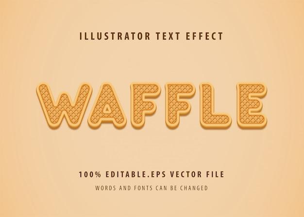 Efecto de estilo de texto de waffle