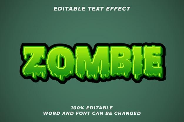 Efecto de estilo de texto zombie halloween