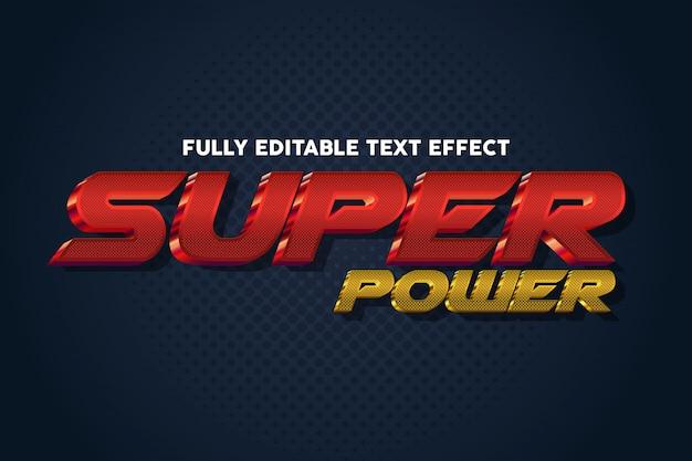 Efecto de estilo de tipografía de texto super power cool