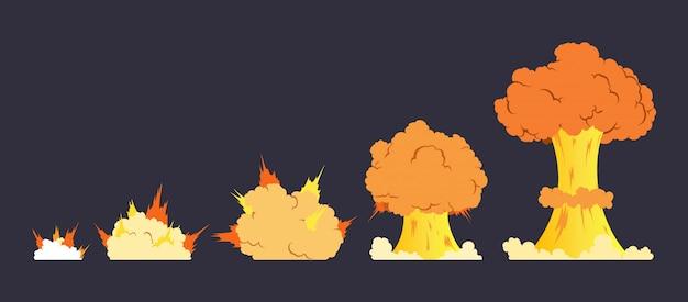 Efecto de explosión de dibujos animados de animación