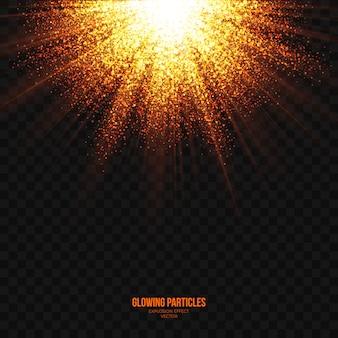 Efecto explosión de luz transparente vector abstracto