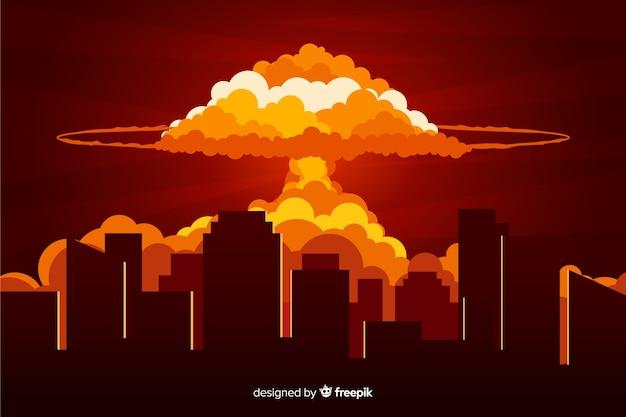 Efecto explosión nuclear diseño plano