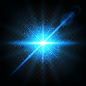 Efecto de la explosión, volando en diferentes direcciones de las partículas.