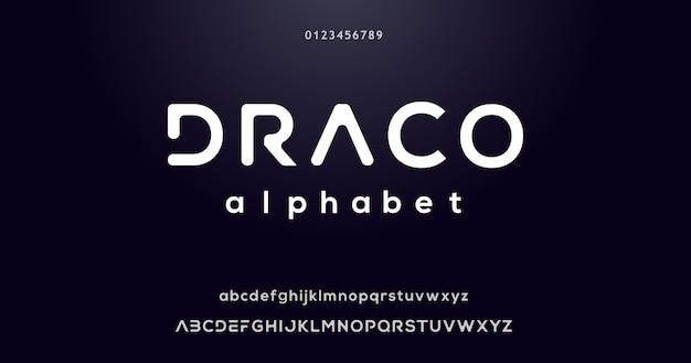 Efecto de fuente del alfabeto moderno