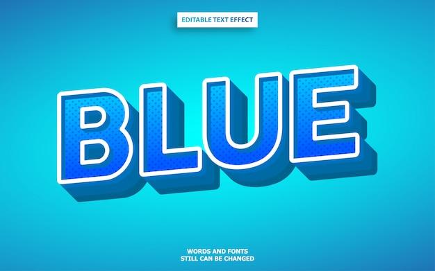 Efecto de fuente de color azul 3d