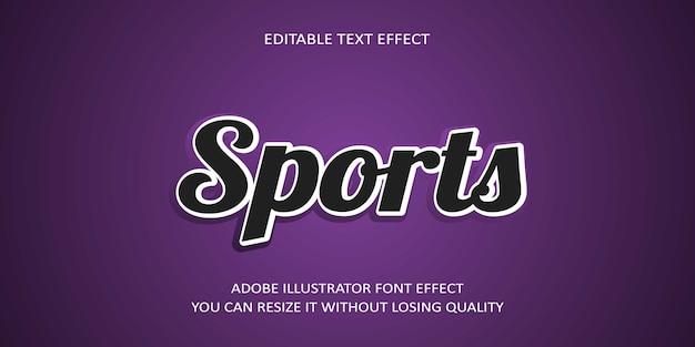 Efecto de fuente deportiva crear con efectos especiales
