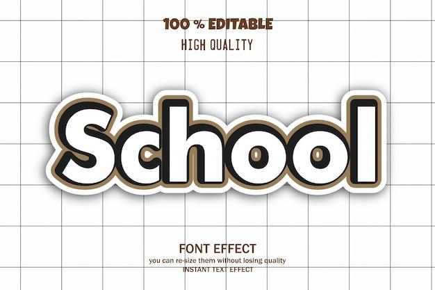 Efecto de fuente editable escuela