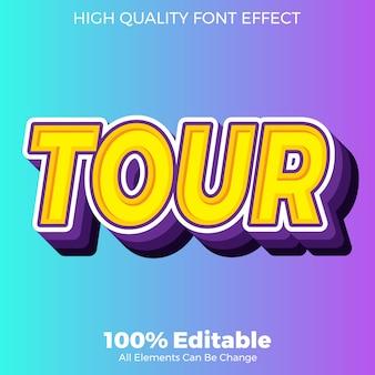 Efecto de fuente editable de estilo moderno y colorido