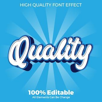 Efecto de fuente editable de estilo de texto de calidad simple