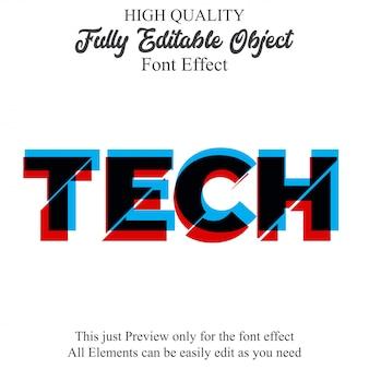Efecto de fuente editable de estilo de texto de falla 3d