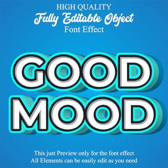 Efecto de fuente editable de estilo de texto moderno 3d