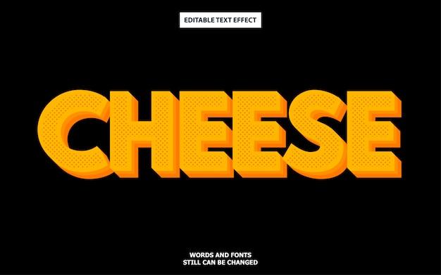 Efecto de fuente editable de estilo de texto de queso