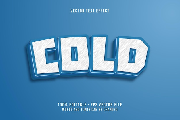 Efecto de fuente editable de texto frío