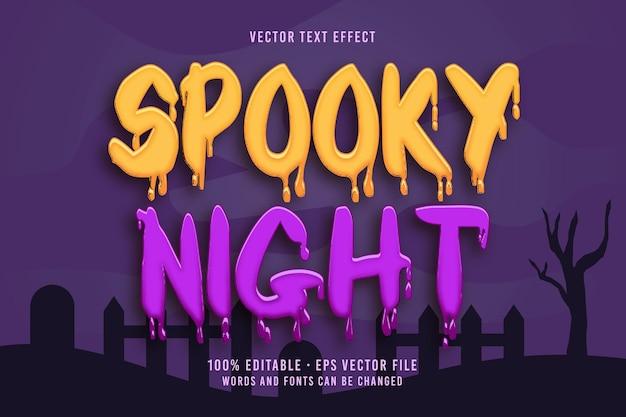 Efecto de fuente editable de texto spooky night