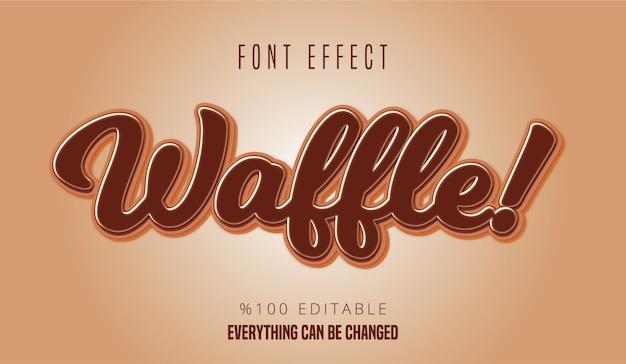 Efecto de fuente editable de texto de waffle