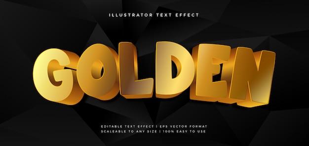 Efecto de fuente de estilo de texto brillante juguetón dorado