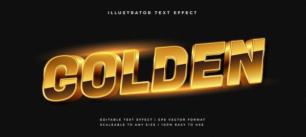 Efecto de fuente de estilo de texto brillante de lujo dorado