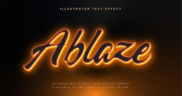 Efecto de fuente de estilo de texto brillante de neón de luz de fondo