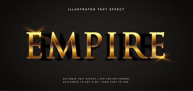 Efecto de fuente de estilo de texto brillante de película dorada