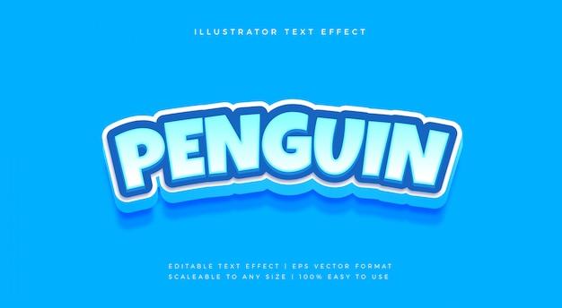 Efecto de fuente de estilo de texto de dibujos animados helado juguetón