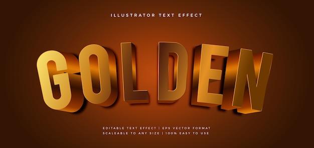 Efecto de fuente de estilo de texto dorado realista