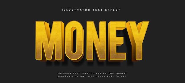 Efecto de fuente de estilo de texto elegante dorado