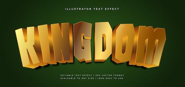 Efecto de fuente de estilo de texto de golden gaming kingdom